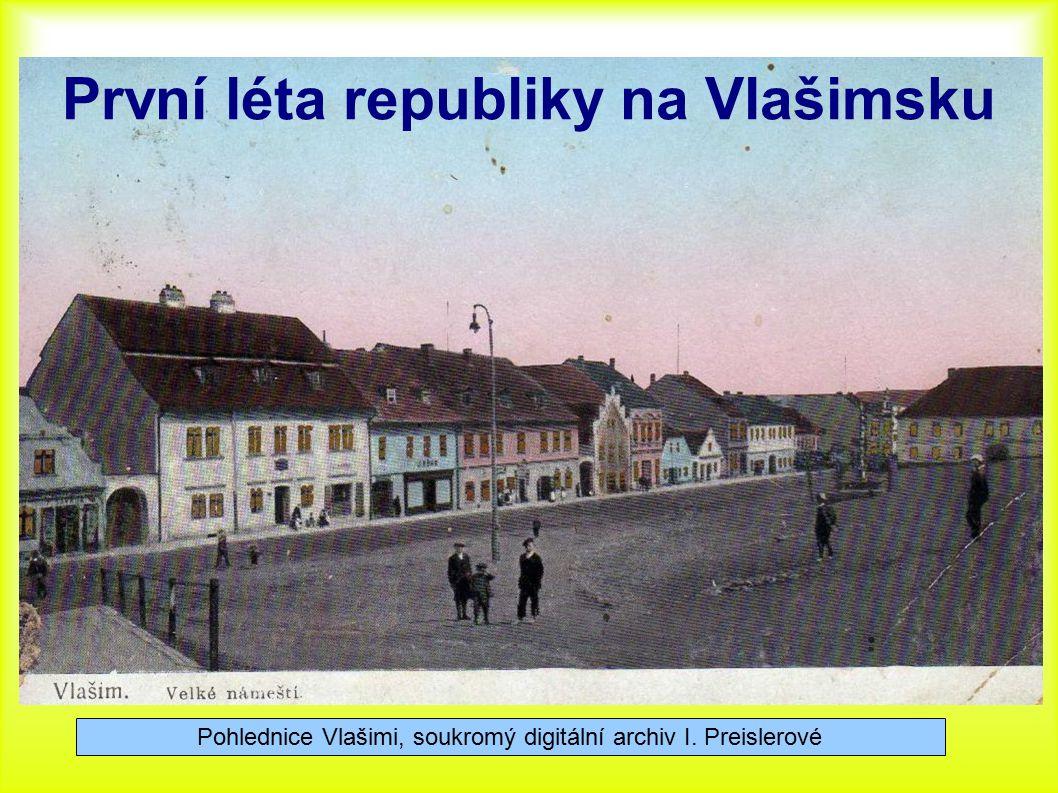 První léta republiky na Vlašimsku