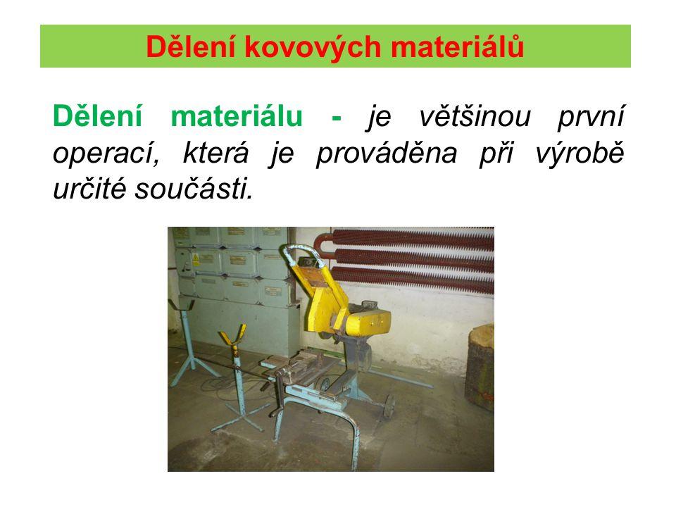 Dělení kovových materiálů