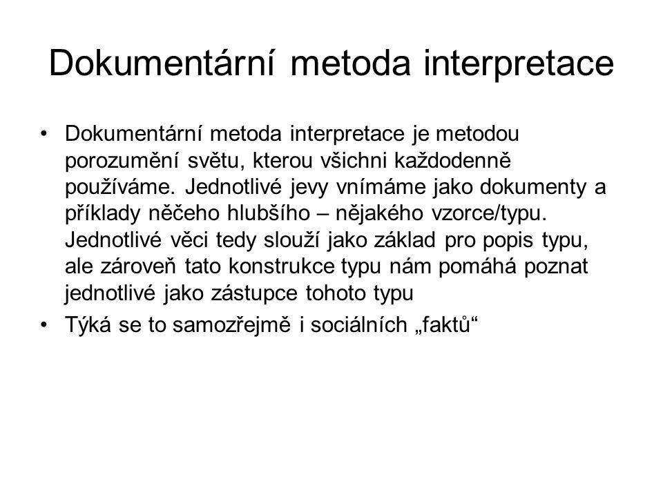 Dokumentární metoda interpretace