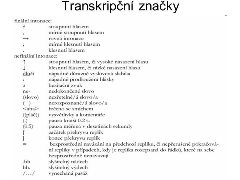 Transkripční značky
