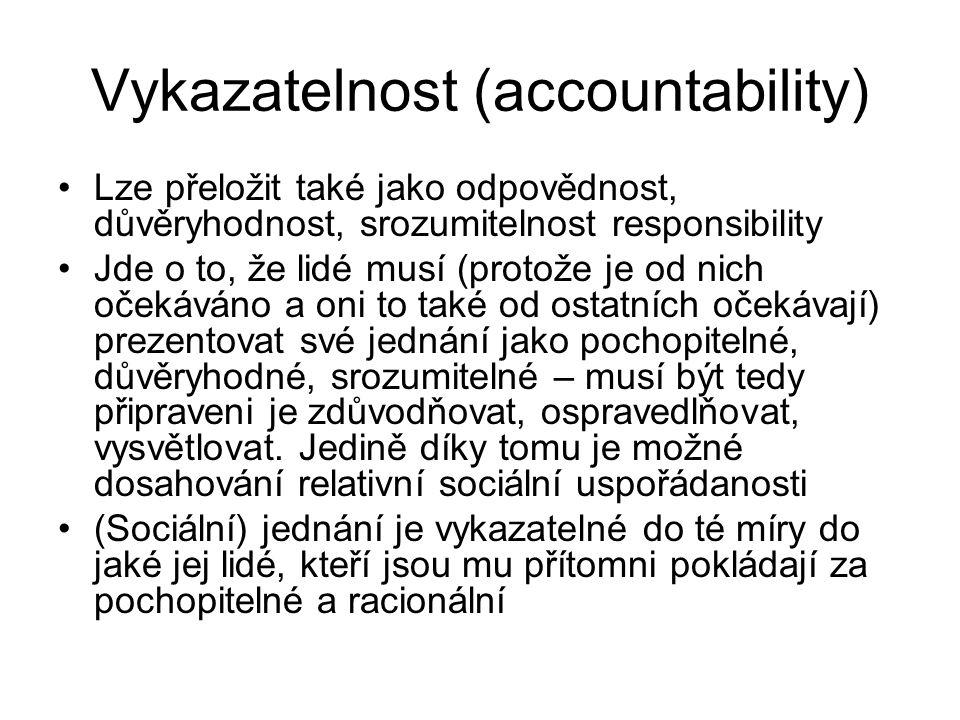 Vykazatelnost (accountability)