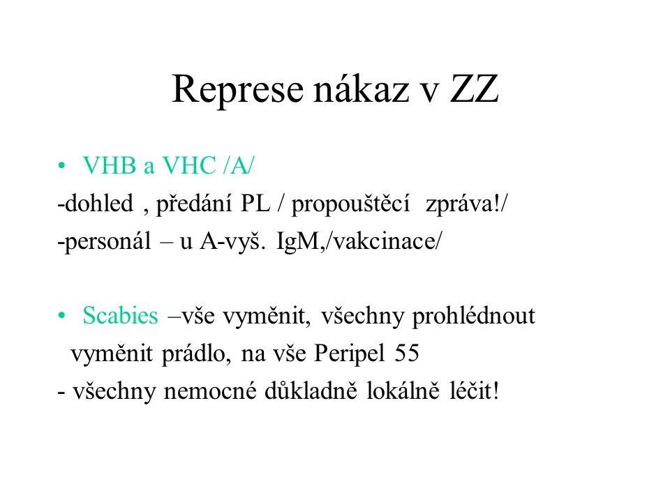 Represe nákaz v ZZ VHB a VHC /A/