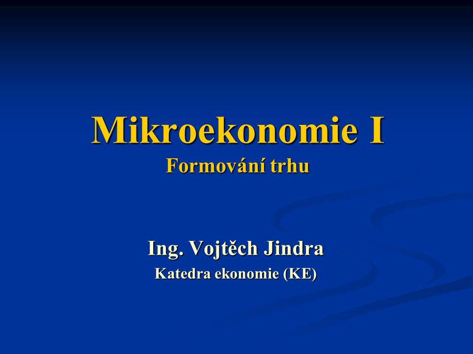 Mikroekonomie I Formování trhu