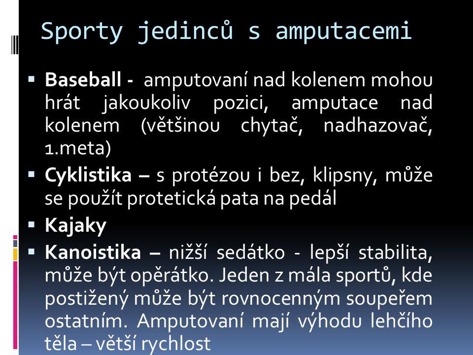 Sporty jedinců s amputacemi