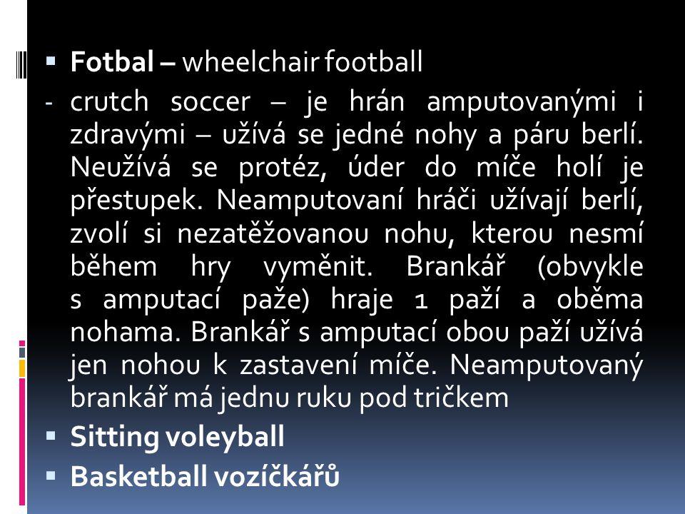 Fotbal – wheelchair football