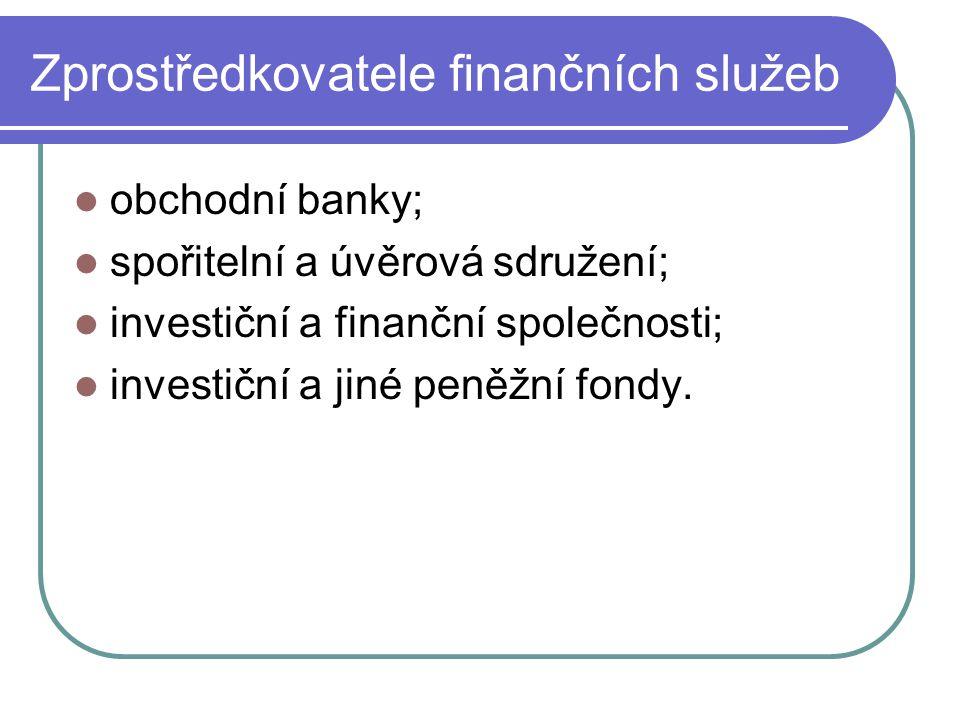 Zprostředkovatele finančních služeb