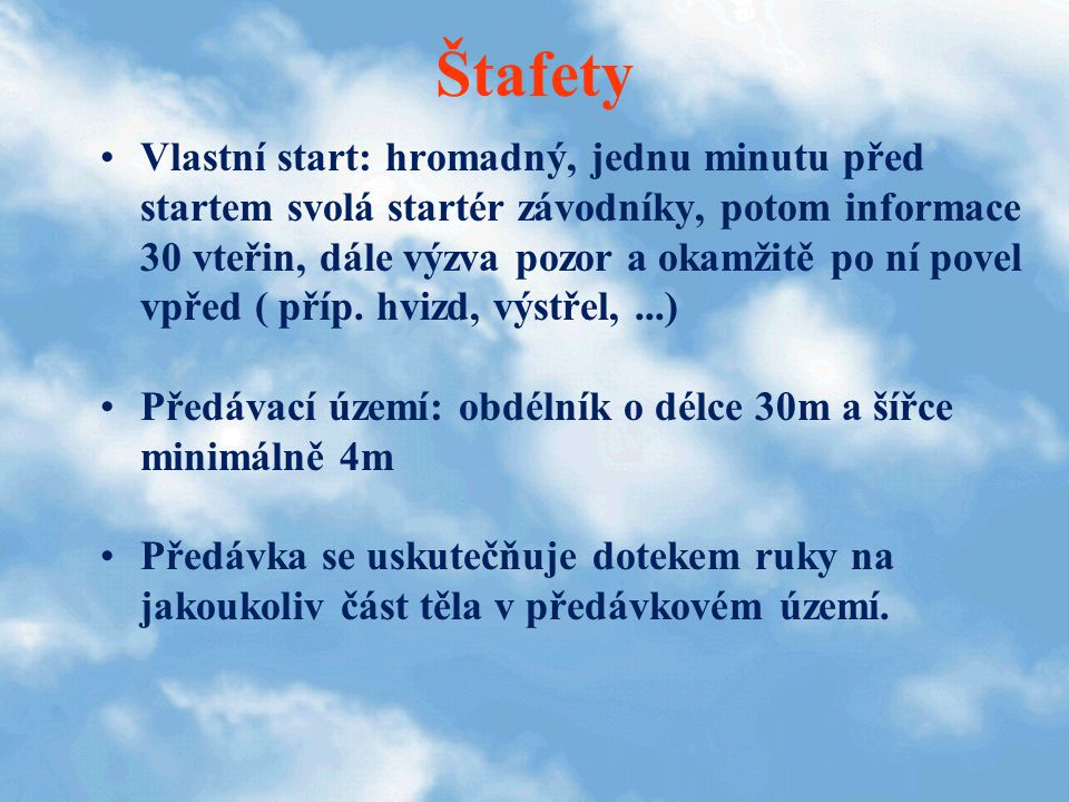 Štafety