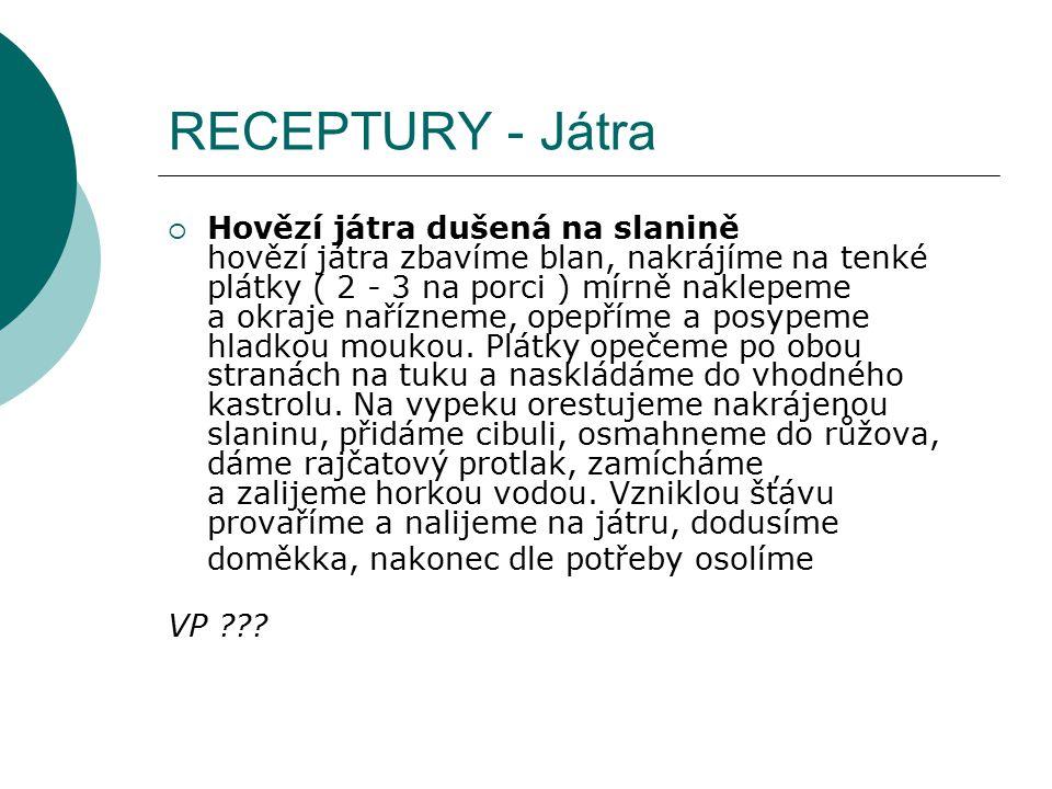 RECEPTURY - Játra