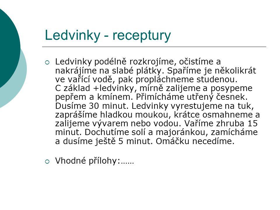 Ledvinky - receptury