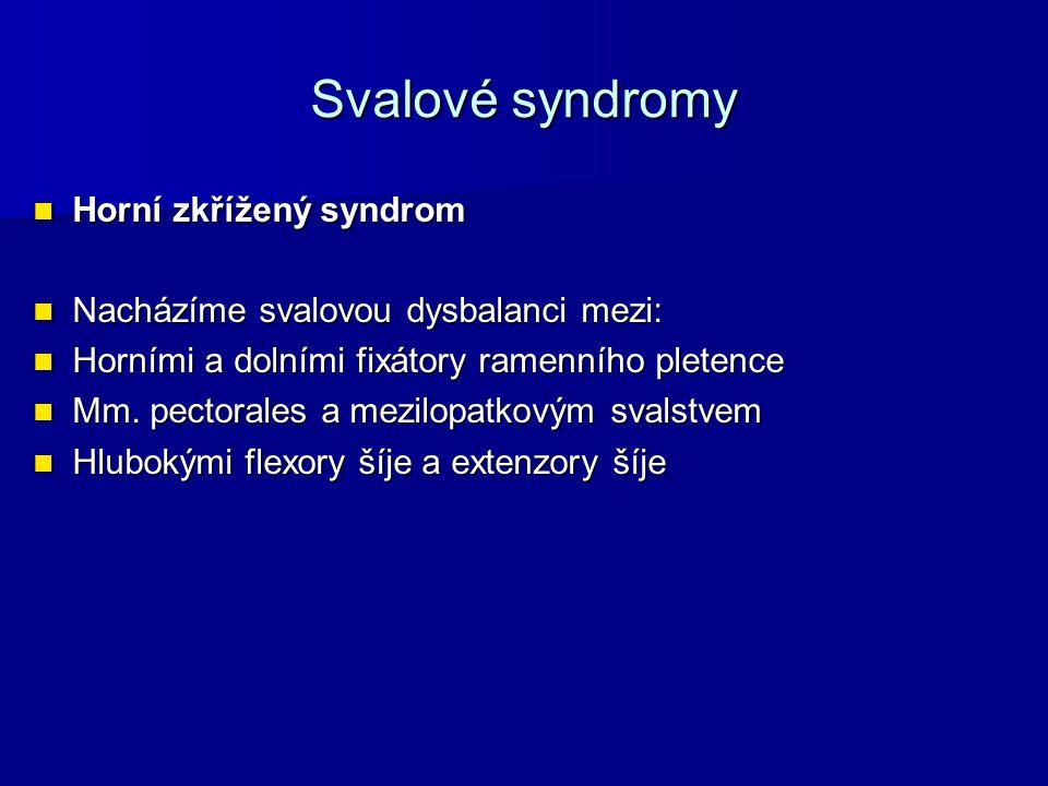 Svalové syndromy Horní zkřížený syndrom
