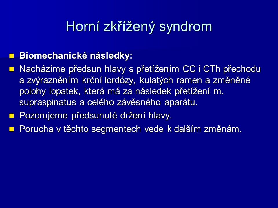 Horní zkřížený syndrom
