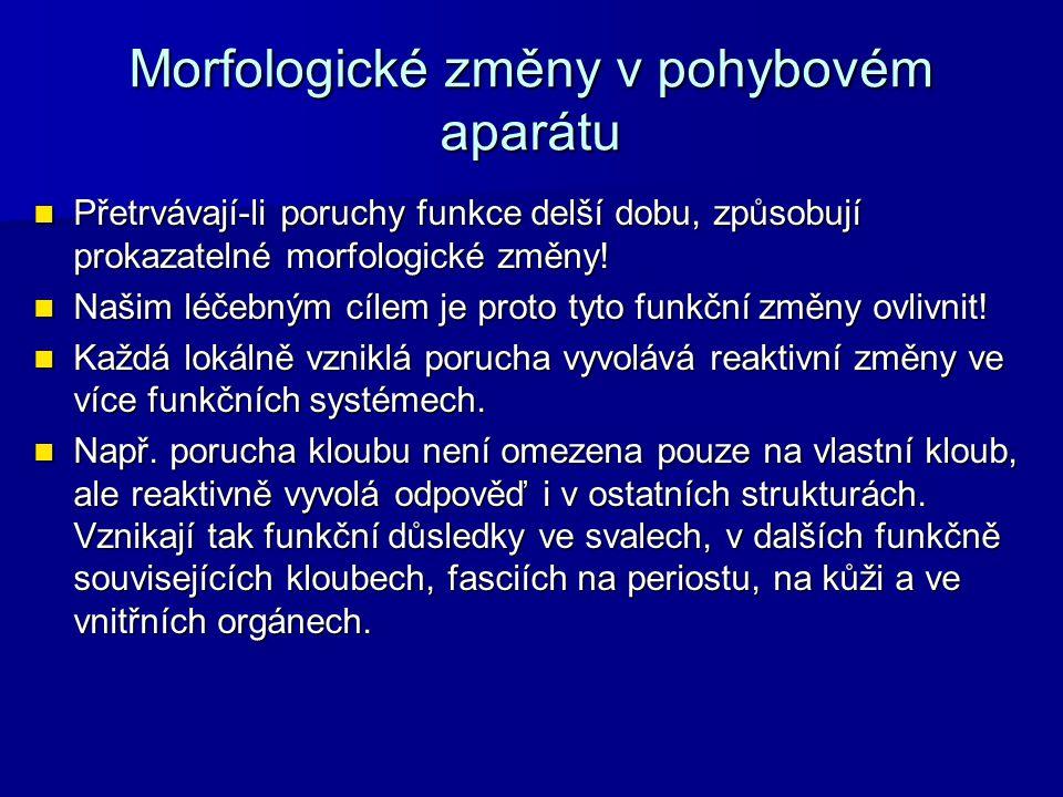 Morfologické změny v pohybovém aparátu
