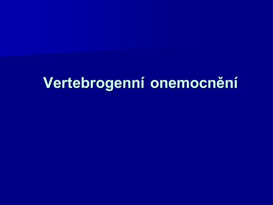 Vertebrogenní onemocnění