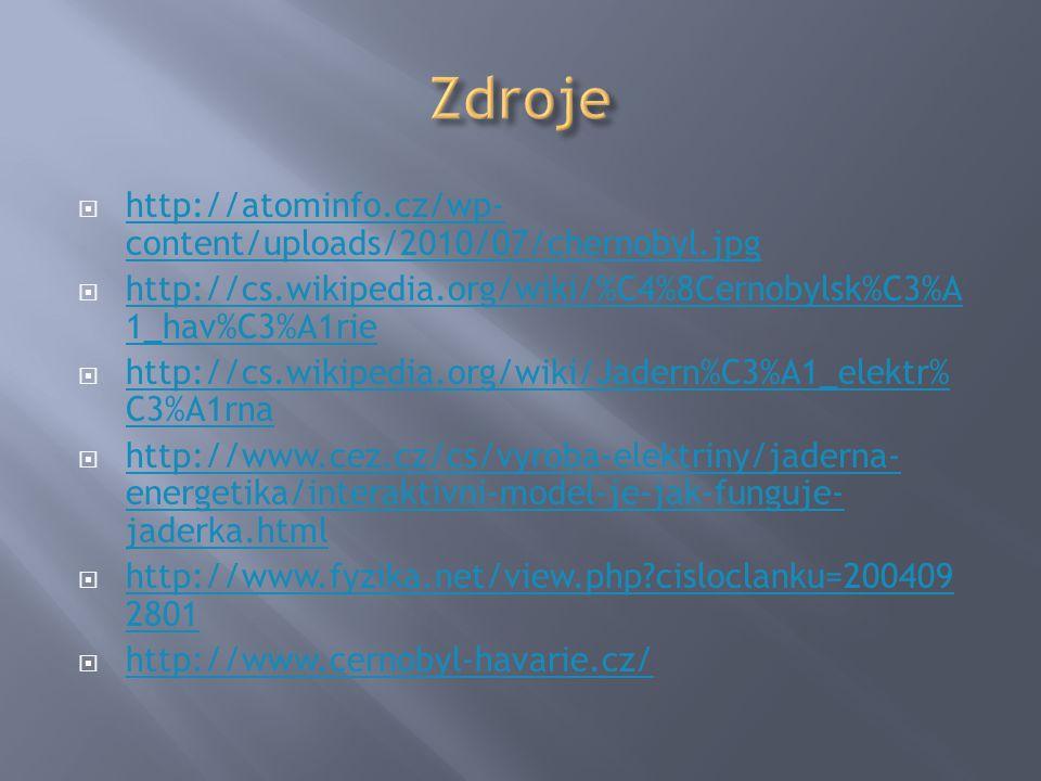 Zdroje http://atominfo.cz/wp-content/uploads/2010/07/chernobyl.jpg