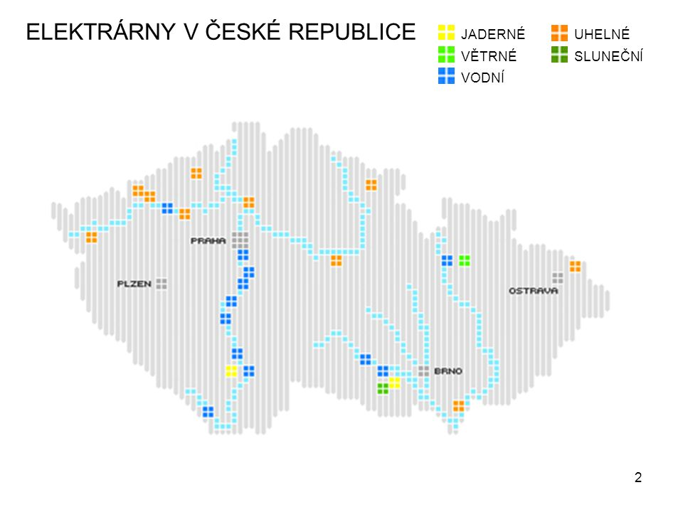 ELEKTRÁRNY V ČESKÉ REPUBLICE