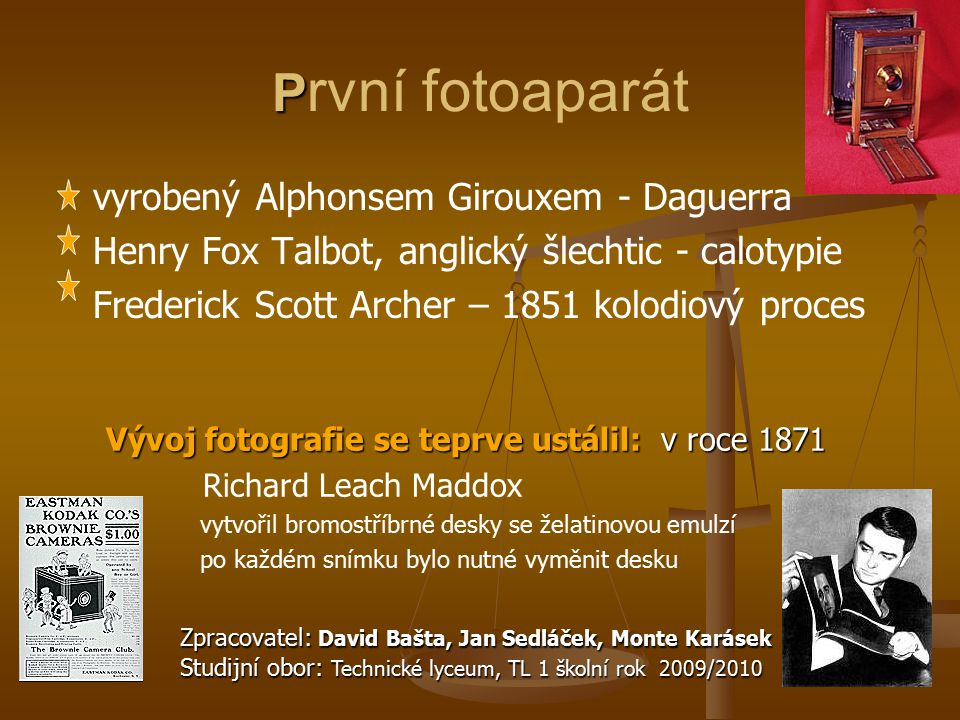 První fotoaparát vyrobený Alphonsem Girouxem - Daguerra