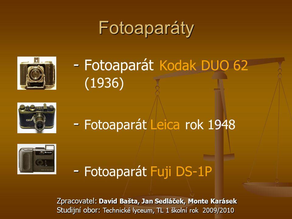 Fotoaparáty - Fotoaparát Kodak DUO 62 (1936)