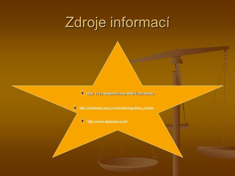 Zdroje informací http://www.digimanie.cz/art
