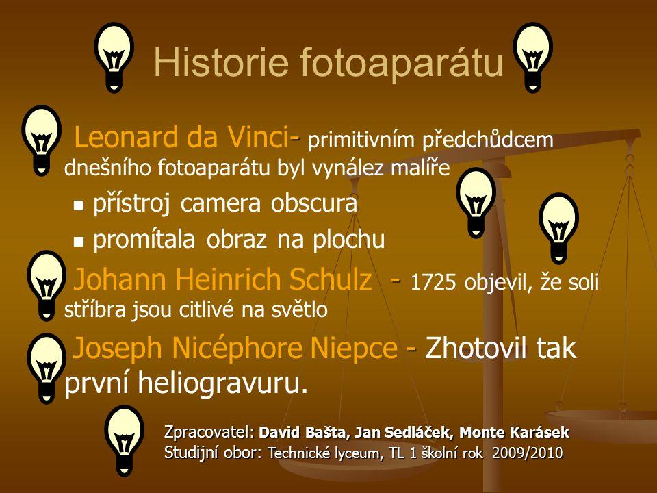 Historie fotoaparátu Leonard da Vinci- primitivním předchůdcem dnešního fotoaparátu byl vynález malíře.