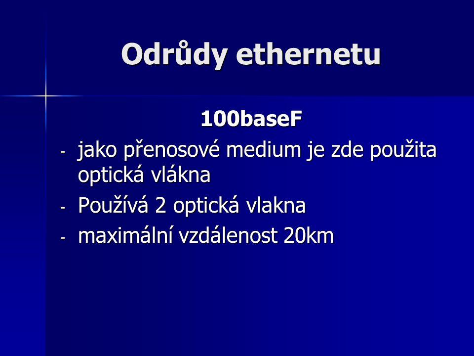 Odrůdy ethernetu 100baseF