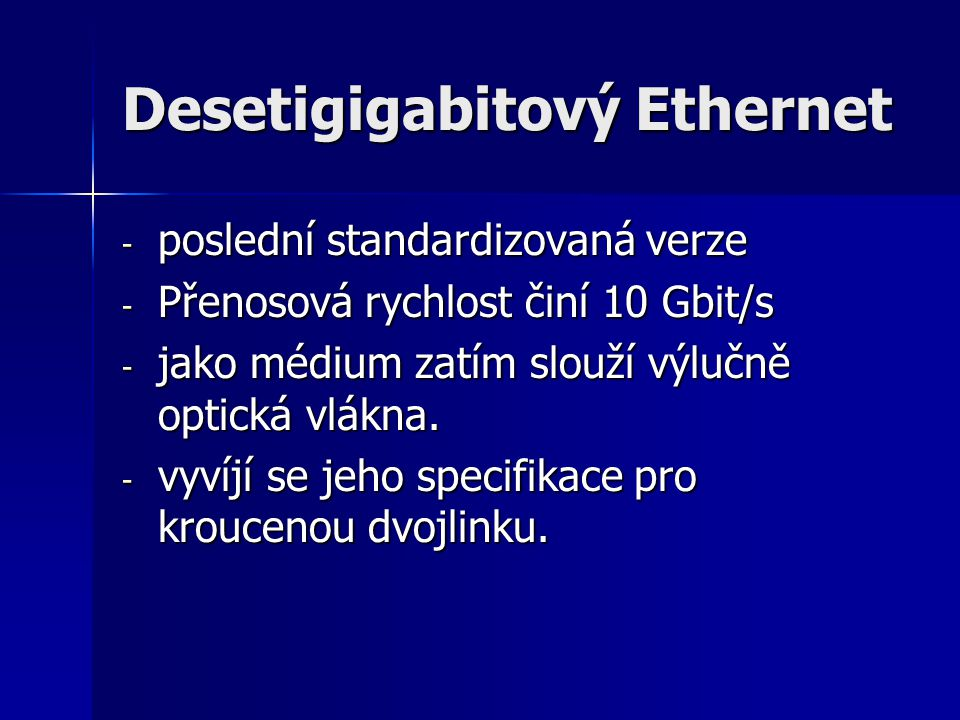 Desetigigabitový Ethernet