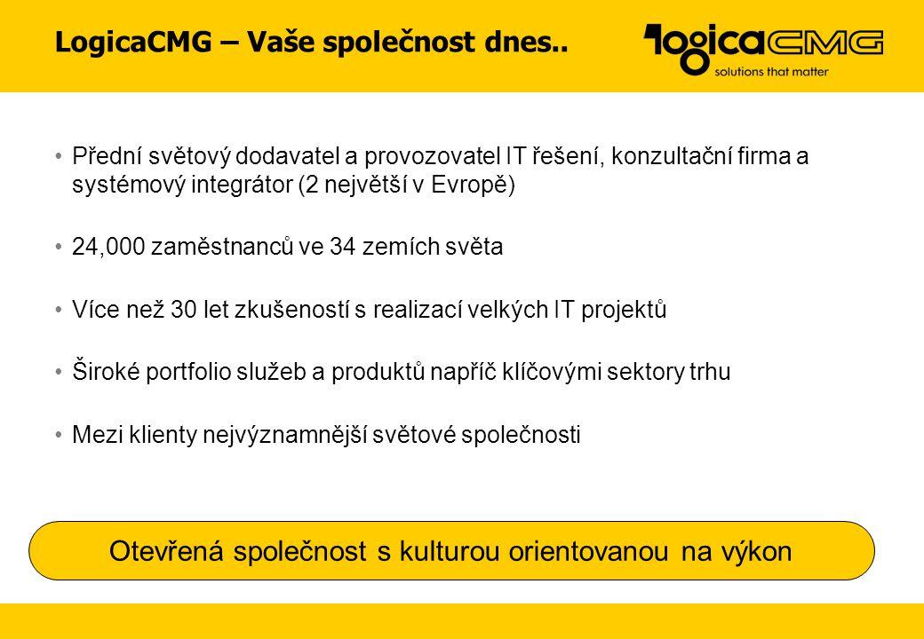 LogicaCMG – Vaše společnost dnes..
