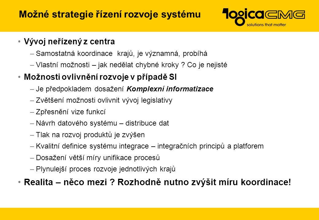 Možné strategie řízení rozvoje systému