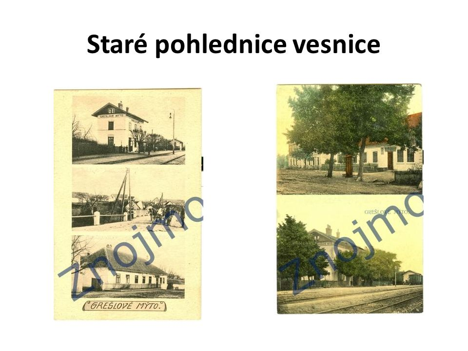 Staré pohlednice vesnice