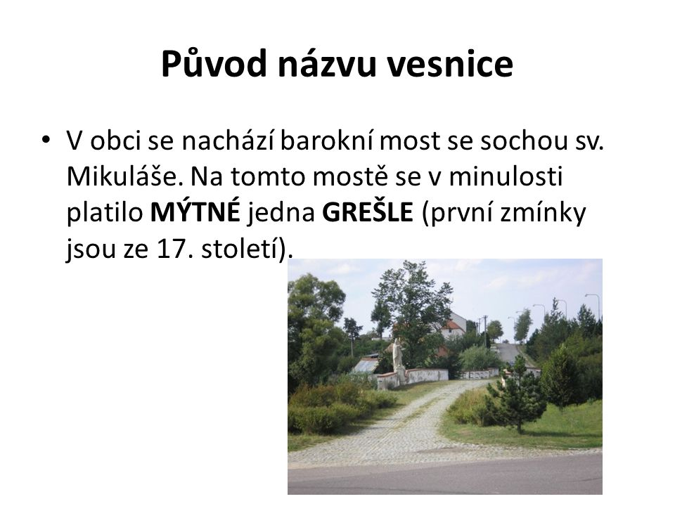 Původ názvu vesnice