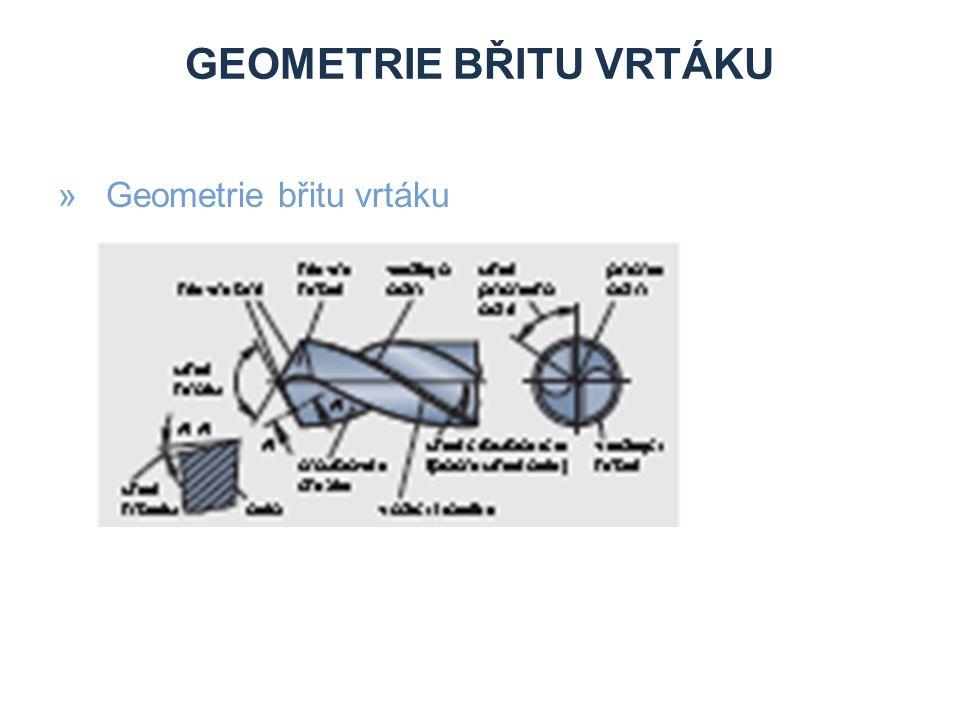 Geometrie břitu vrtáku