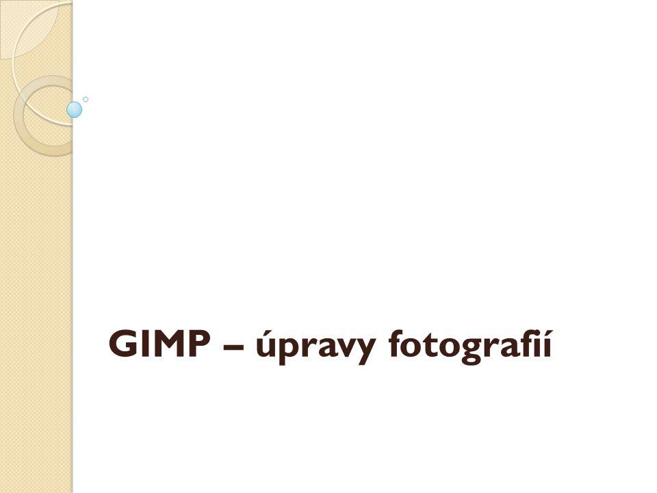 GIMP – úpravy fotografií