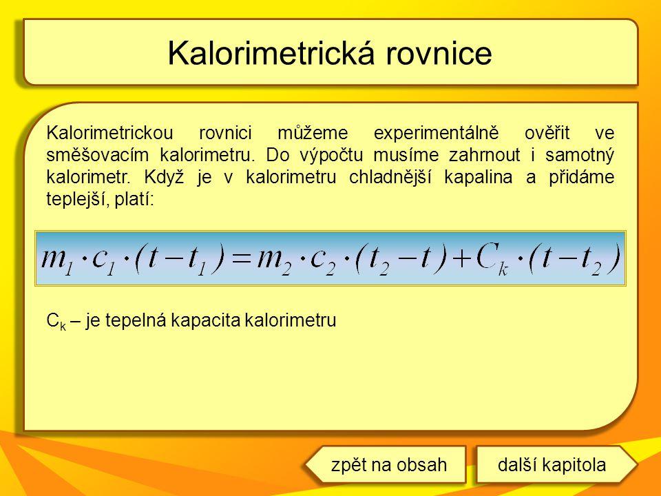 Kalorimetrická rovnice
