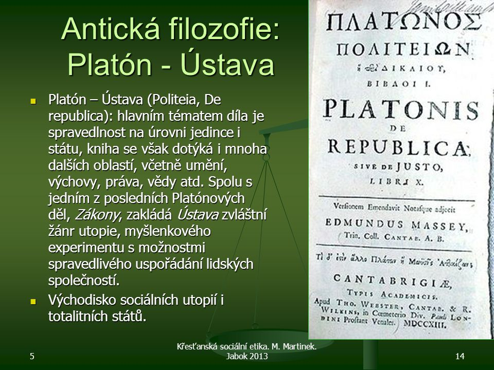 Antická filozofie: Platón - Ústava