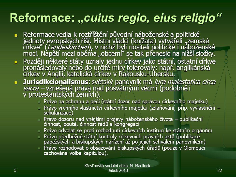 """Reformace: """"cuius regio, eius religio"""