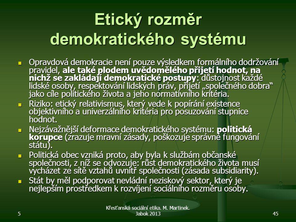 Etický rozměr demokratického systému