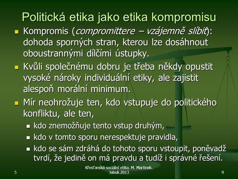 Politická etika jako etika kompromisu