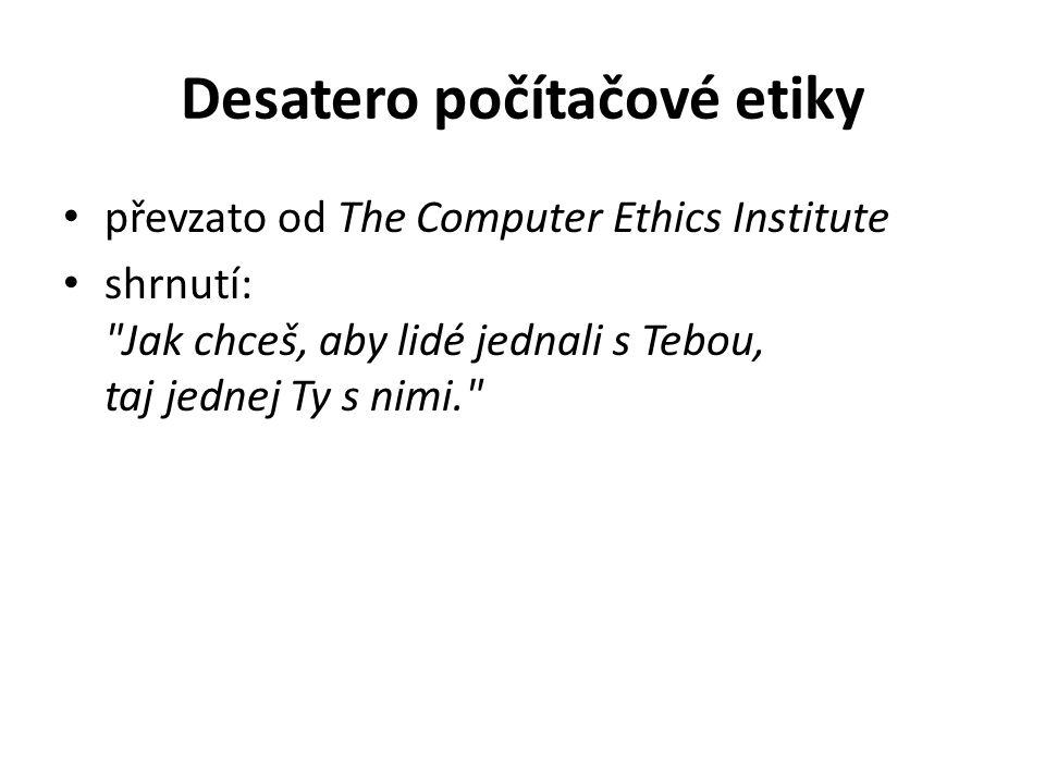 Desatero počítačové etiky