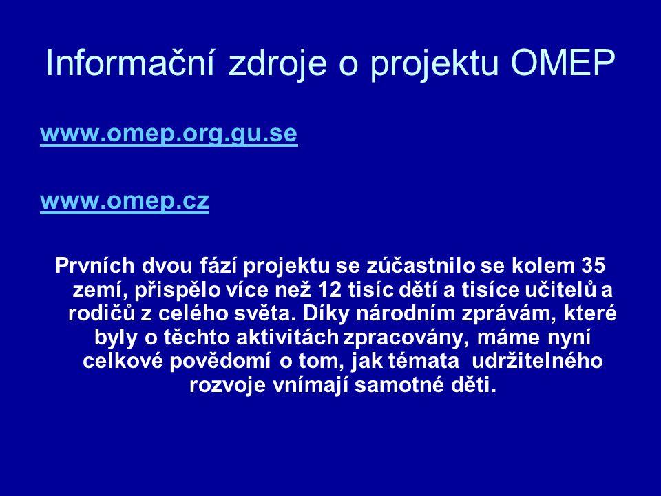 Informační zdroje o projektu OMEP