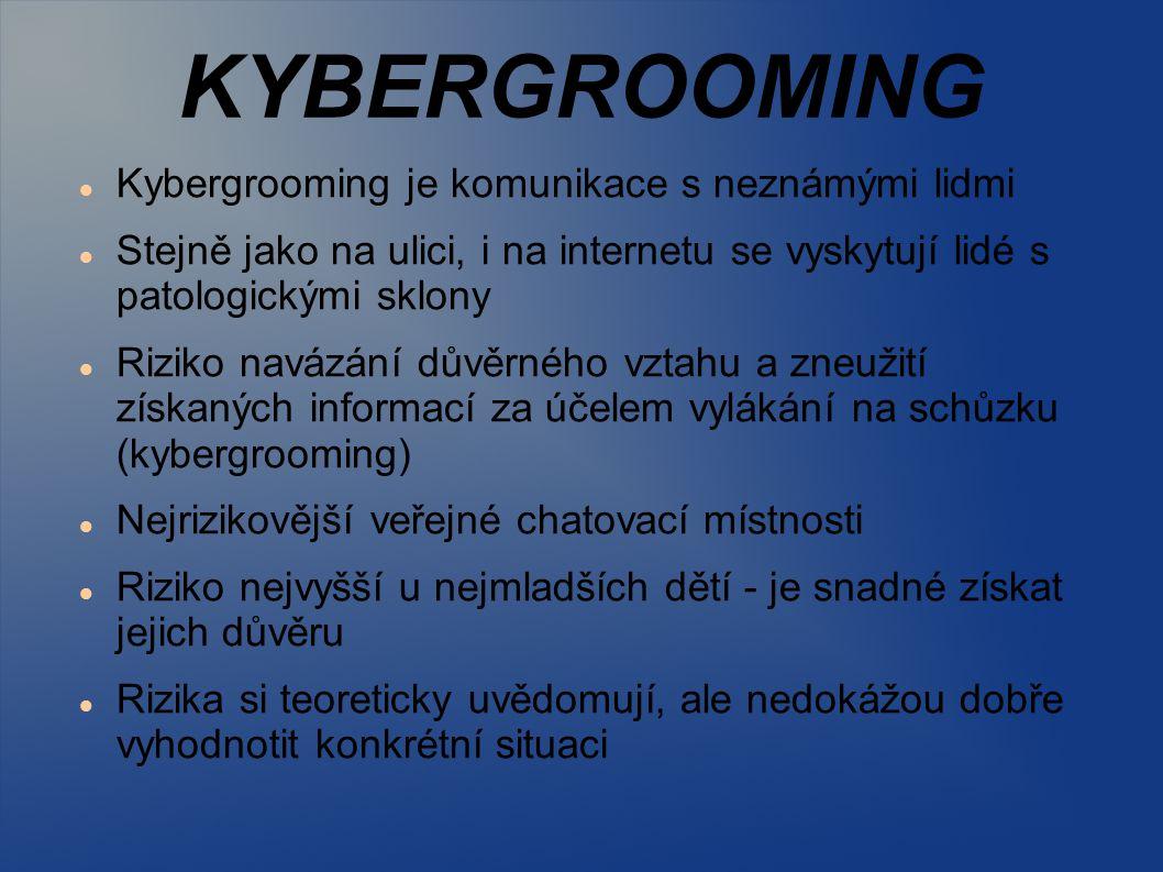 KYBERGROOMING Kybergrooming je komunikace s neznámými lidmi