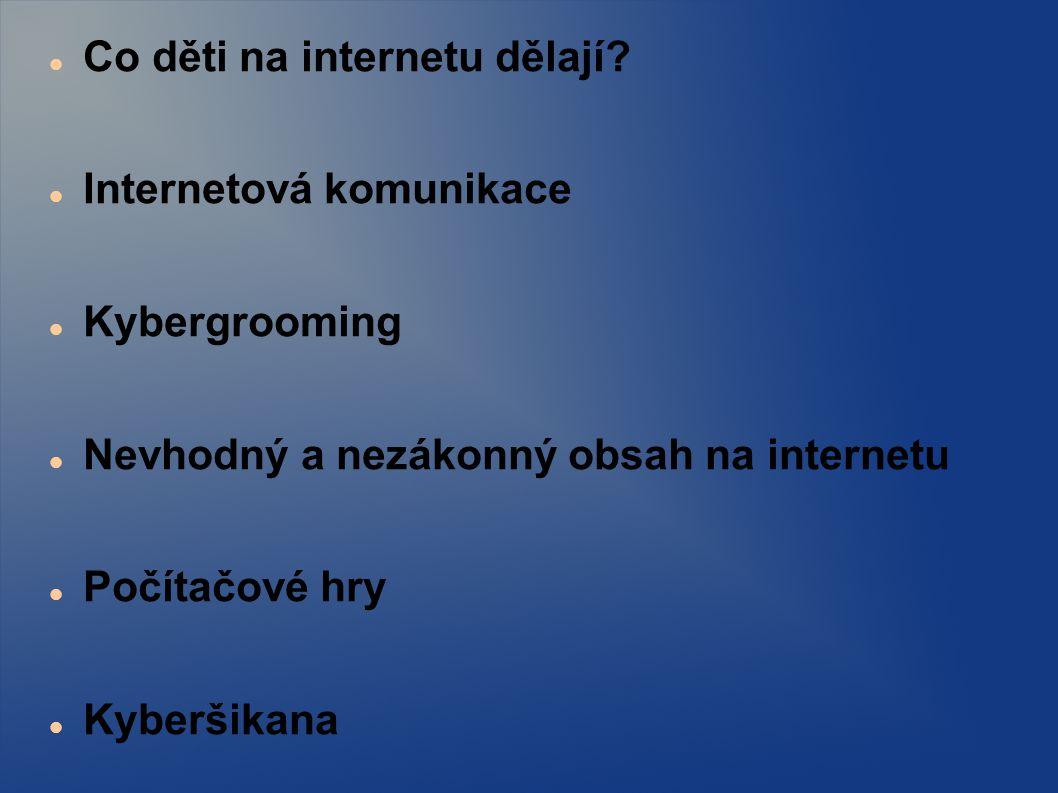 Co děti na internetu dělají