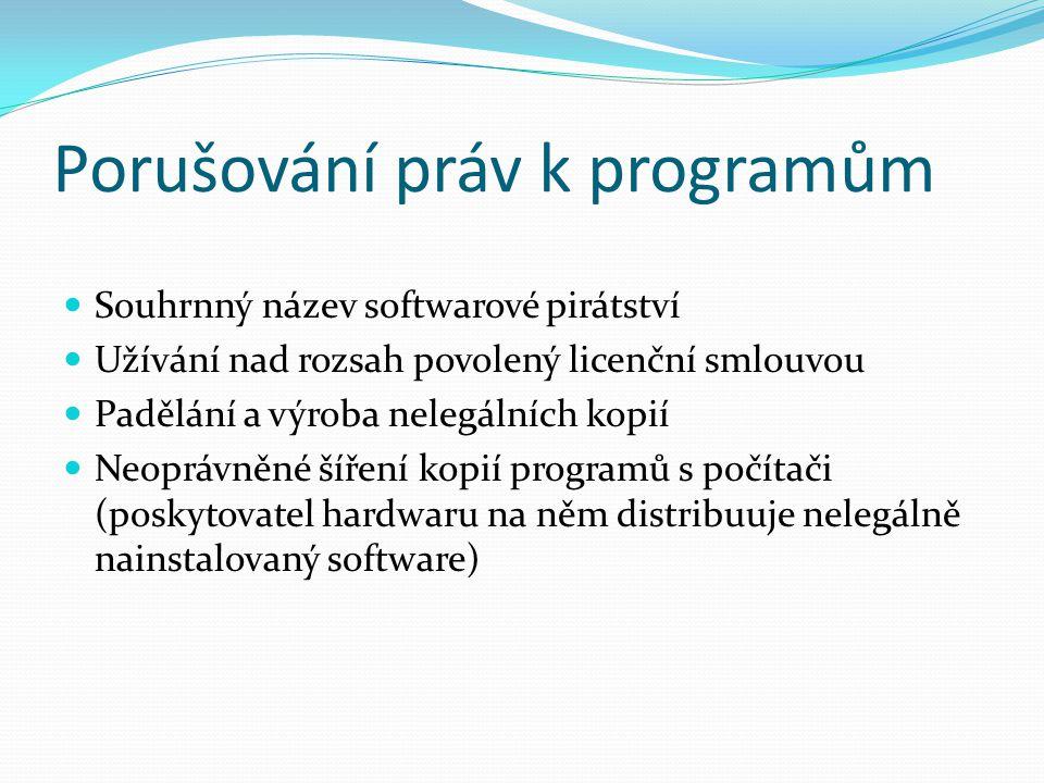 Porušování práv k programům