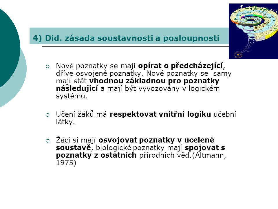 4) Did. zásada soustavnosti a posloupnosti