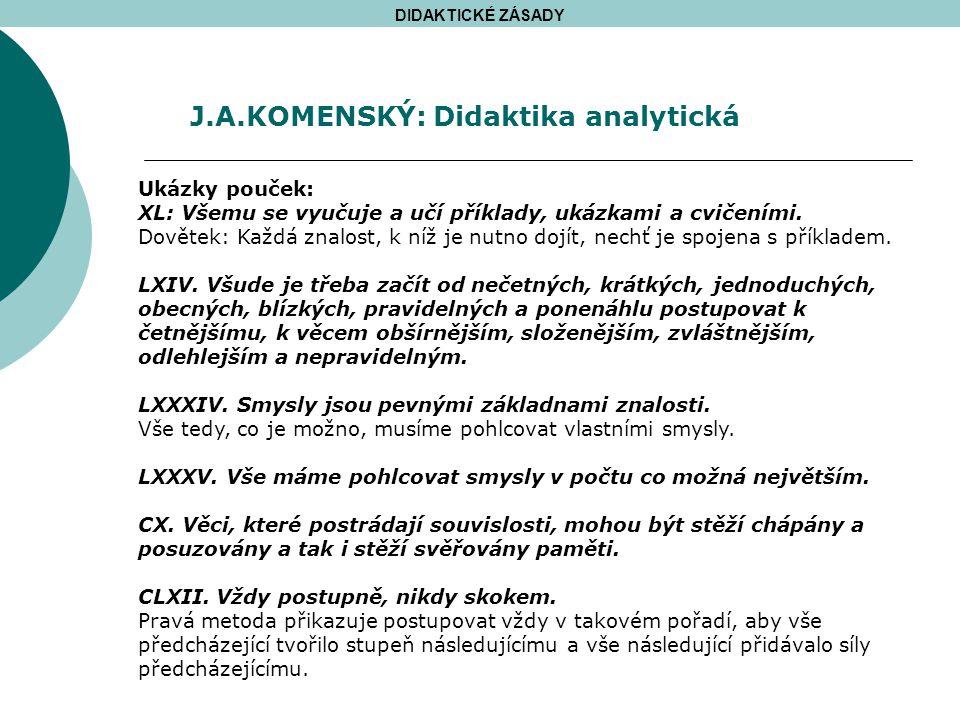 J.A.KOMENSKÝ: Didaktika analytická