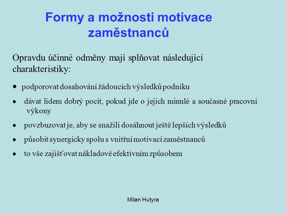 Formy a možnosti motivace zaměstnanců
