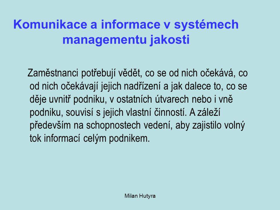 Komunikace a informace v systémech managementu jakosti