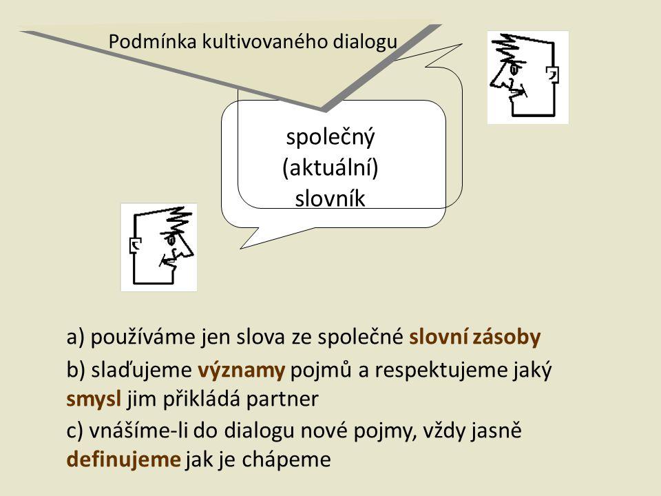 společný (aktuální) slovník