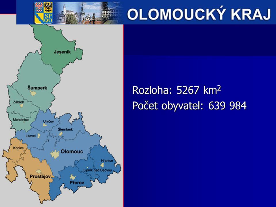 Rozloha: 5267 km2 Počet obyvatel: 639 984