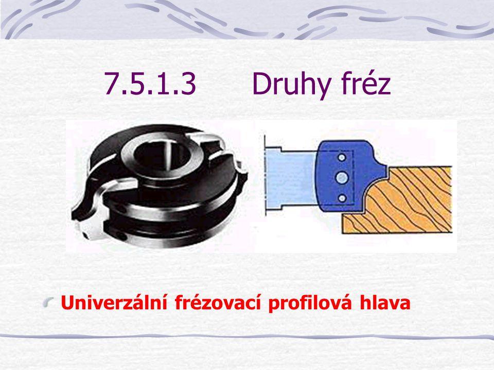 7.5.1.3 Druhy fréz Univerzální frézovací profilová hlava