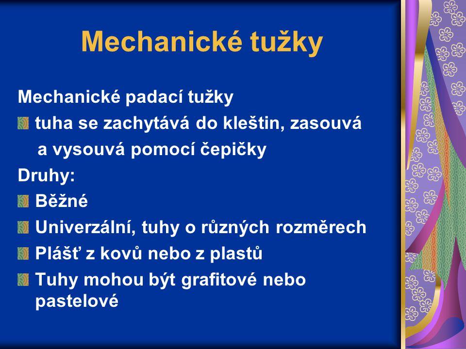 Mechanické tužky Mechanické padací tužky