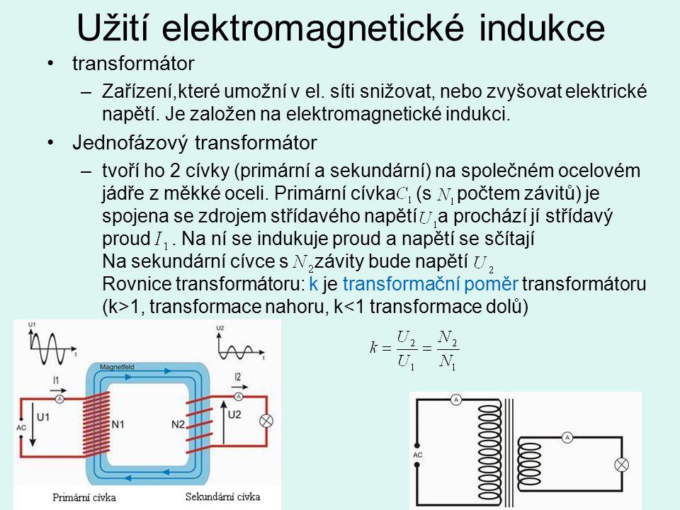 Užití elektromagnetické indukce